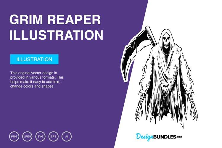 Grim Reaper Vector Illustration example image 1