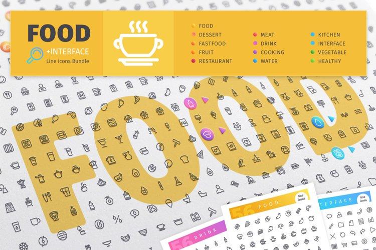 Food 800 Line Icons Bundle example image 1