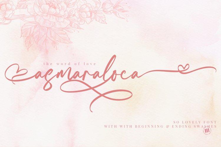 Asmaraloca - So Lovely Font example image 1