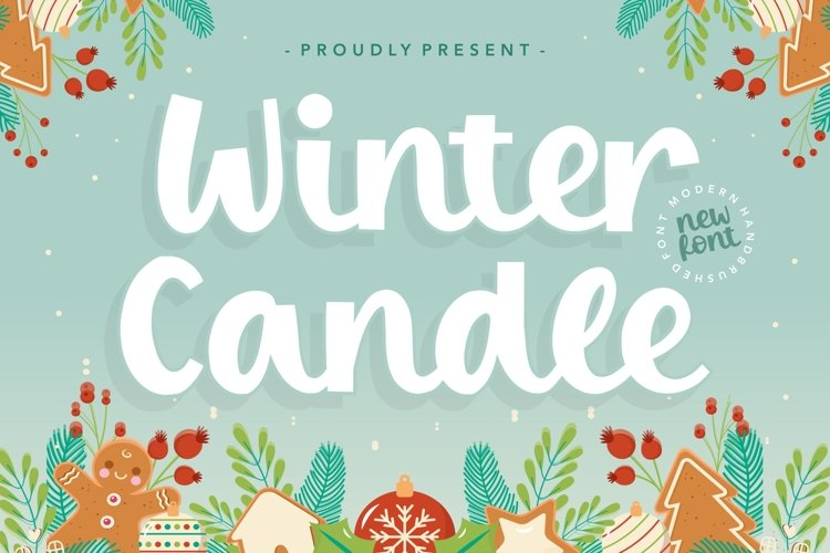 Winter Candle Modern Handbrushed Font example image 1