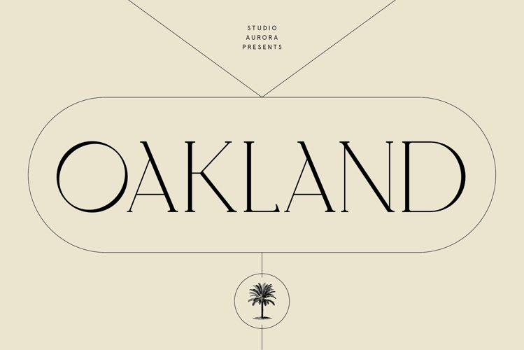 Oakland - Decorative Display Serif example image 1