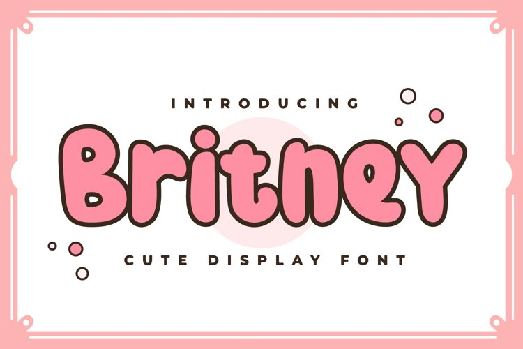 Britney - Cute Display Font example image 1
