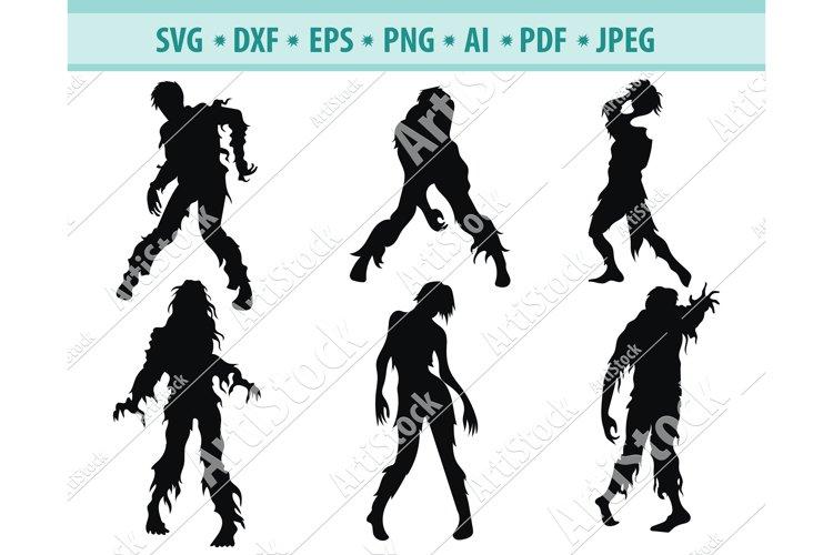Zombie bundle svg, Halloween zombie clipart, Dxf, Png, Eps