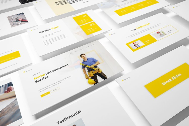 Handyman Google Slides Template example image 1