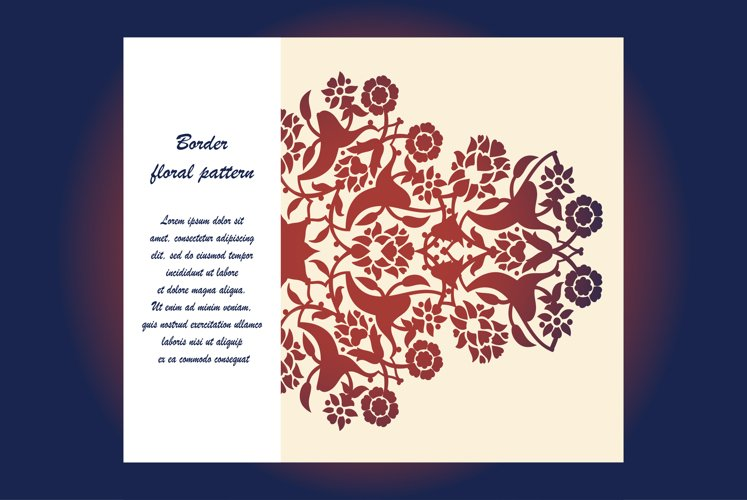 Laser cut floral arabesque ornament pattern vector. Template example image 1