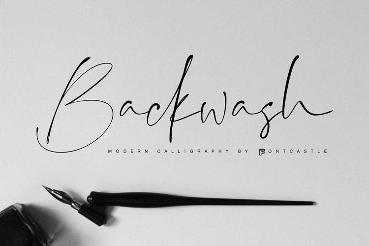 Backwash Font example image 1