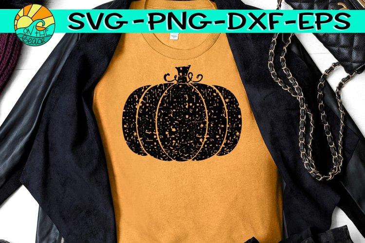 Pumpkin - Grunge - Distressed - SVG PNG EPS DXF example image 1