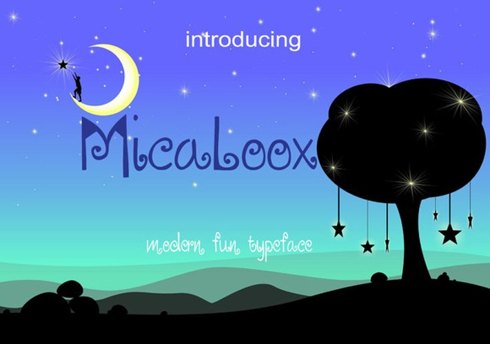 MICALOOX Funny Typeface example image 1
