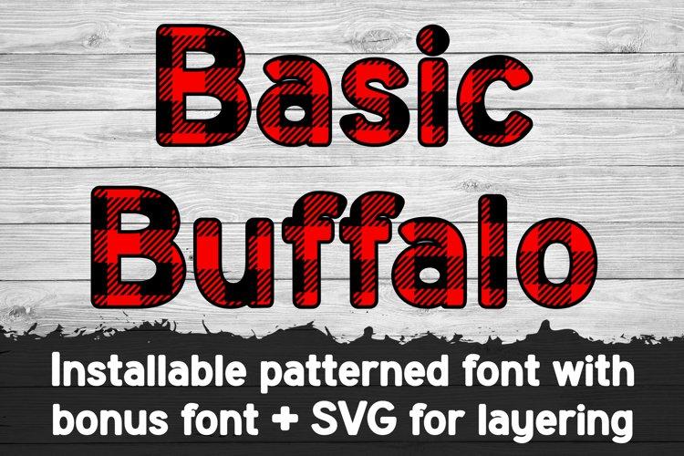 Basic Buffalo Plaid Patterned Font