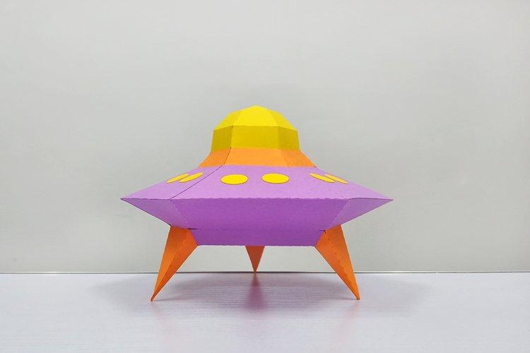 DIY Papercraft Alien ship,Papercraft UFO,X-files Ufo,Cricut example image 1