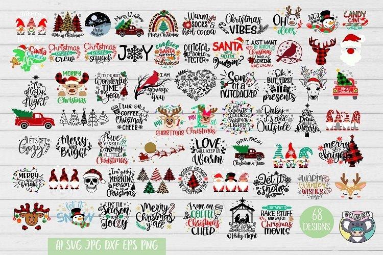 Christmas svg, Nativity Scene, O Holy Night, Santa, Reindeer example image 1