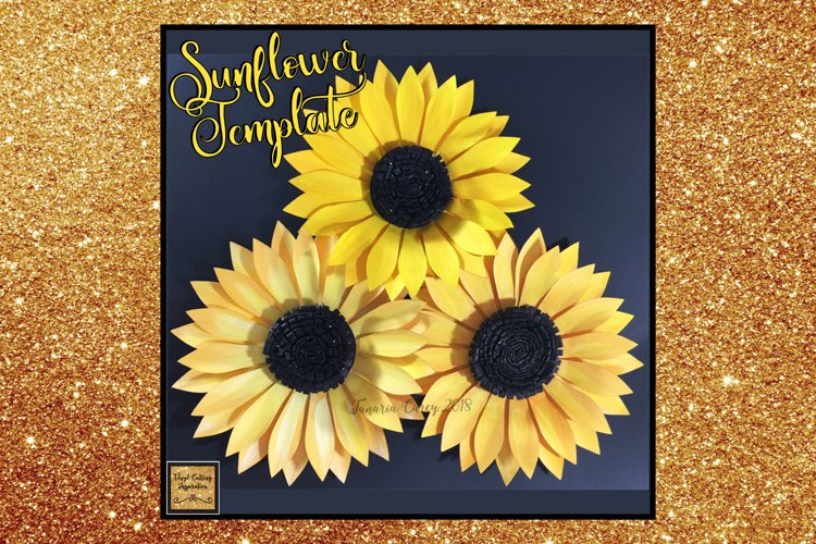 Paper Sunflower Template Svg Cut File Paper Flower print