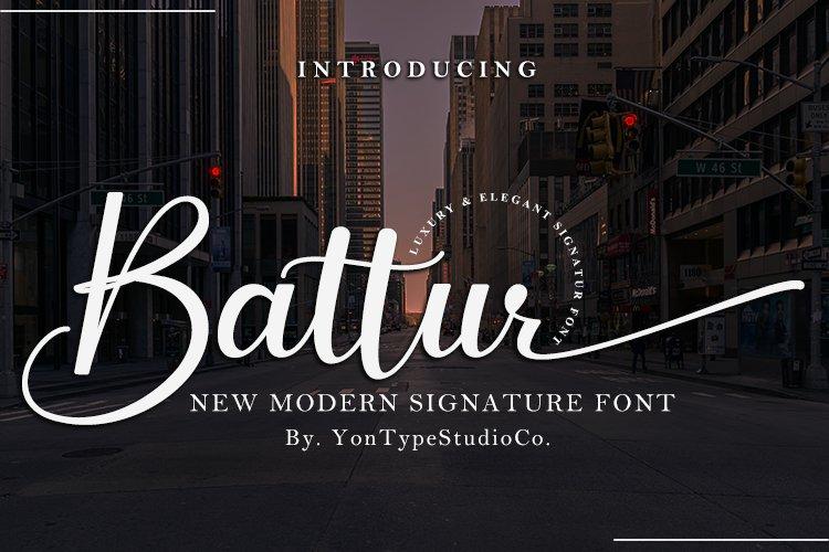 Battur - Modern Signature Font