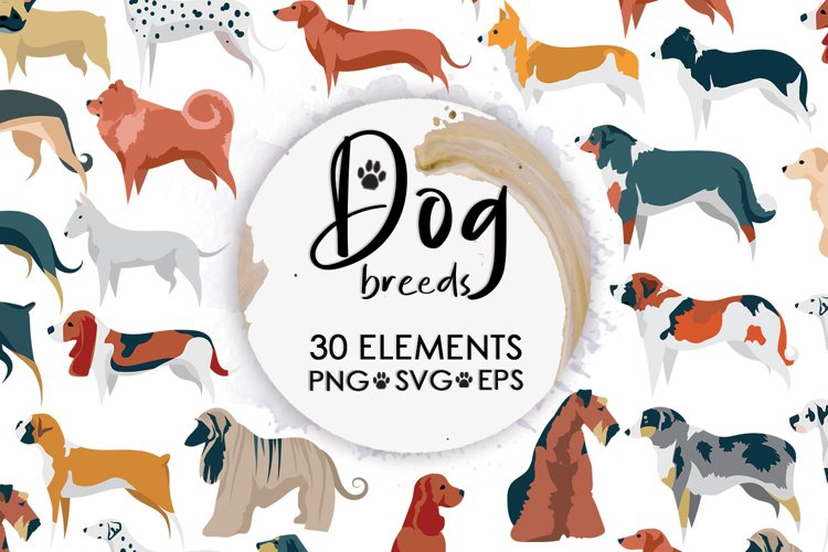 Dog Svg, Dog Bundle, Dog Clipart, Dog Breed Bundle, Dog Mom example image 1