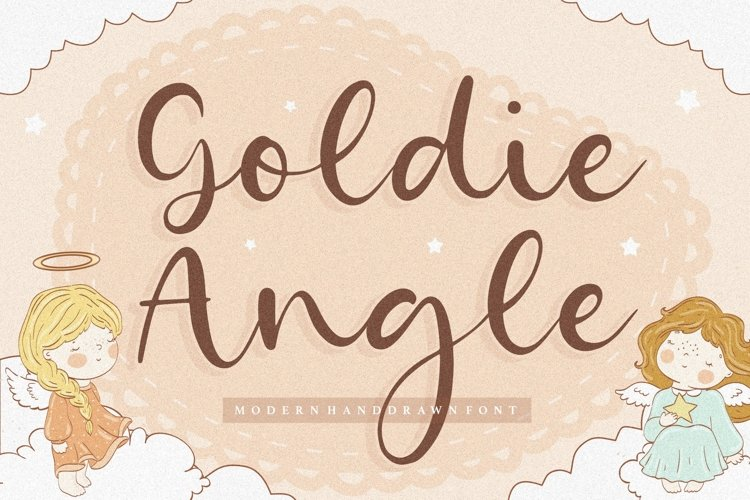 Goldie Angle Modern Handdrawn Font example image 1