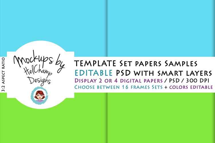 2 or 4 Panels Mockup for Digital Papers - TH05