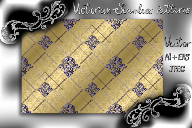 Seamless damask pattern for background or wallpaper design. example image 1