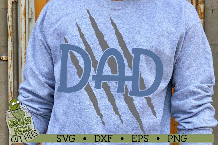 Dad Claw Marks / Dog / Cat / Wolf / Bear / Tiger SVG File