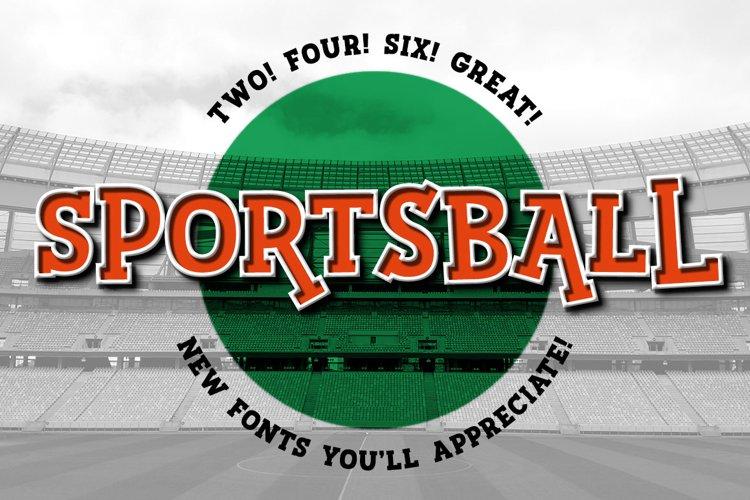 Sportsball - fun font with alternates! example image 1