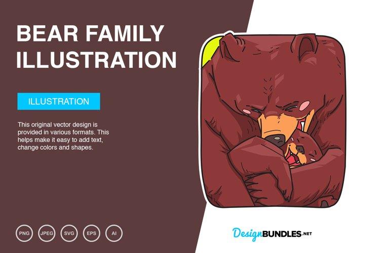 Bear Family Vector Illustration example image 1