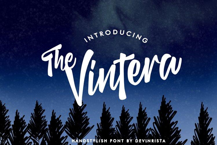 The Vintera Handstylish Font example image 1
