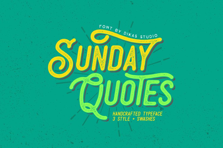 Sunday Quotes - 3 Font Styles example image 1
