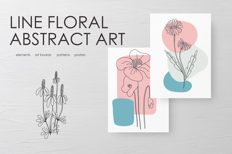 Line Floral Abstract Art example image 1