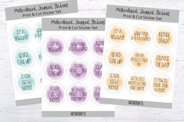 Motivational Planner Stickers- Set #A0 example image 1