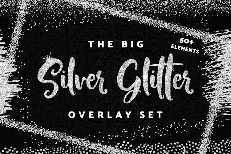 Silver Confetti Overlay Frames Borders