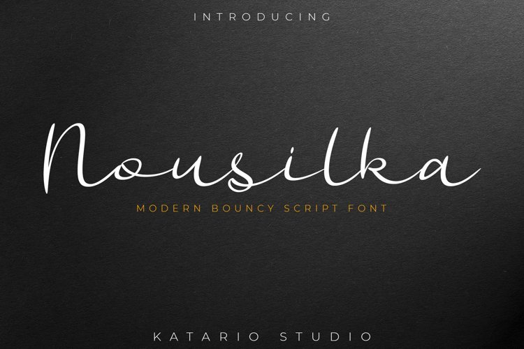 Nousilka | Modern Bouncy Script Font example image 1