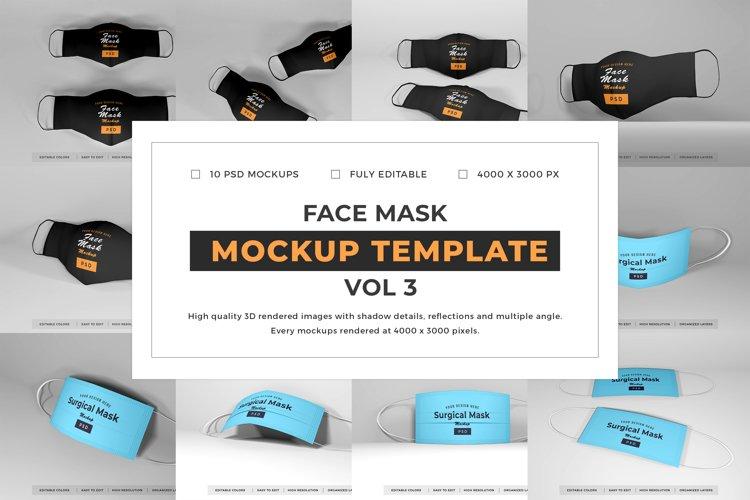 Face Mask Mockup Template Bundle Vol 3 example image 1