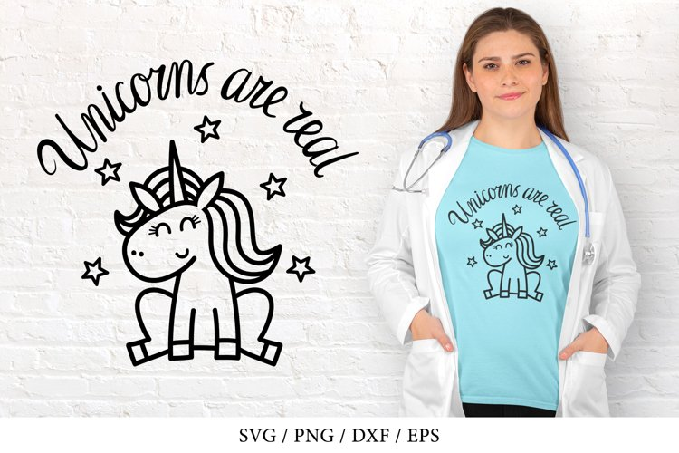 Unicorns are real, magical animal - SVG, DXF, PNG