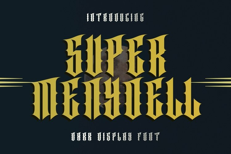 Web Font SUPER MENYOELL Font example image 1