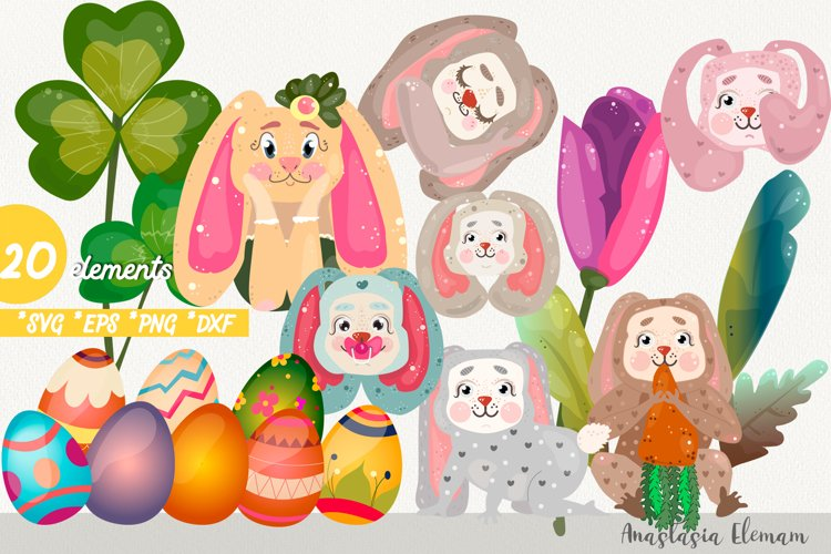 Easter eggs hunt clipart svg dxf png eps for commercial use