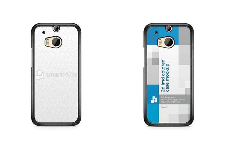 HTC ONE M8 2d IMD Colored Mobile Case Design Mockup 2014 example image 1