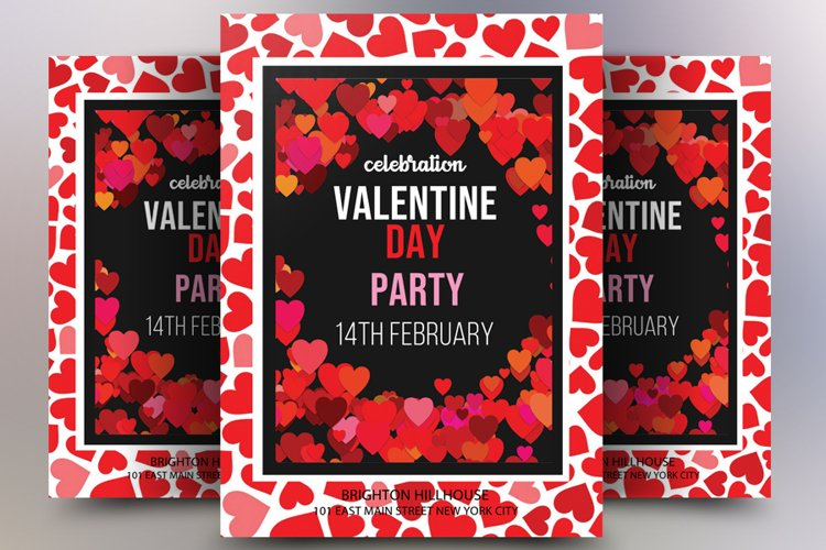 Valentine's Day Template Flyer example image 1
