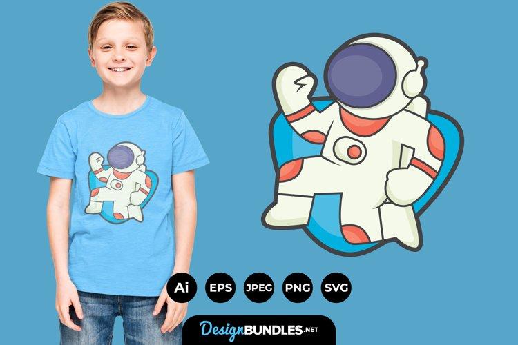 Astronaut Clipart for T-Shirt Design