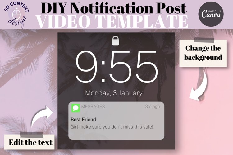 1 Editable Notification Canva Instagram Template