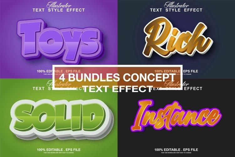 4 concept text effect editable