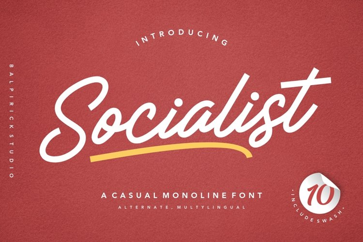 Socialist a Casual Monoline Font example image 1