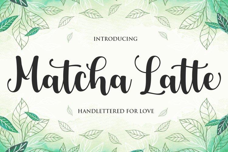Matcha Latte Script example image 1