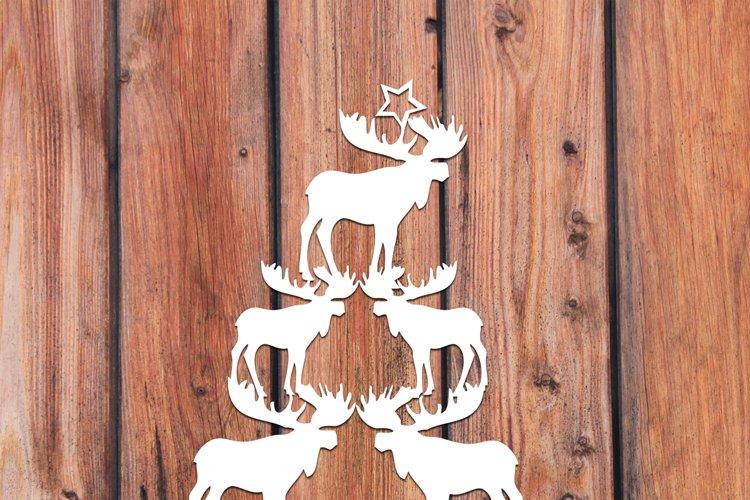 Christmas SVG Moose Christmas Tree Happy Holiday svg file example image 1