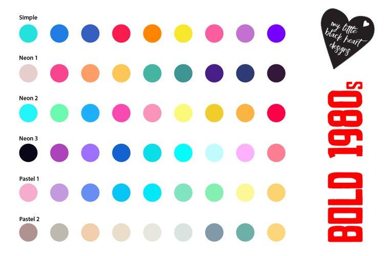 1980s Retrol Colour Palettes