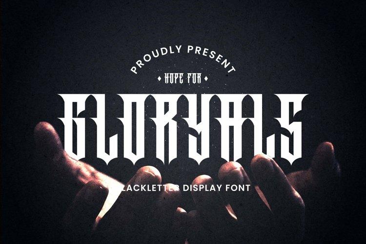 Web Font Gloryals Font example image 1