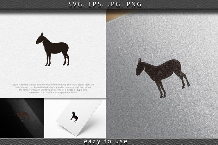 donkey, ox logo Designs Inspiration Isolated on White Backgr example image 1
