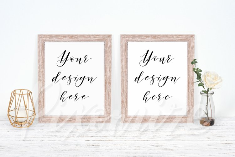 Double Frame Mockup with Two Frames
