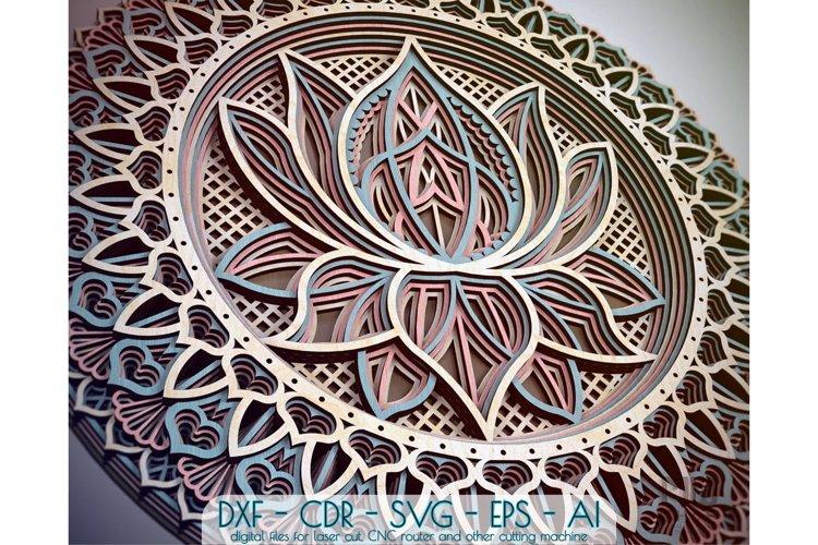 M12 - Lotus Flower Mandala Pattern