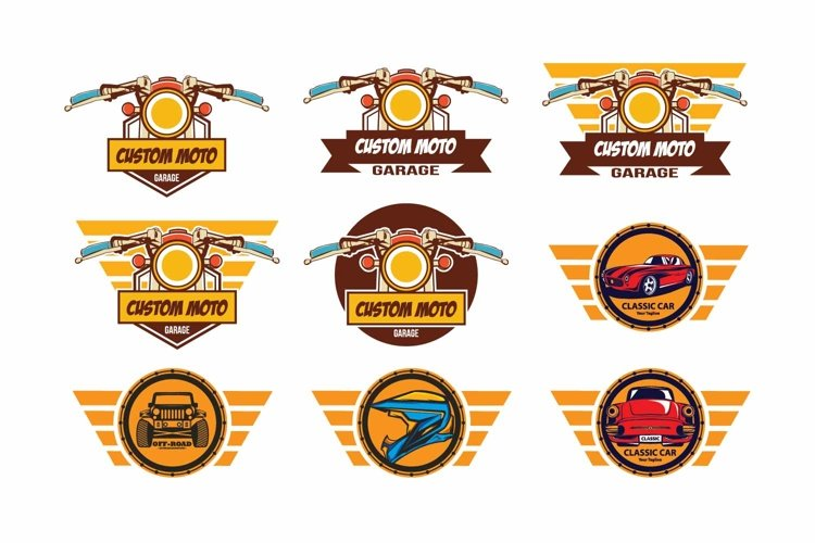 Cafe racer logo template example image 1