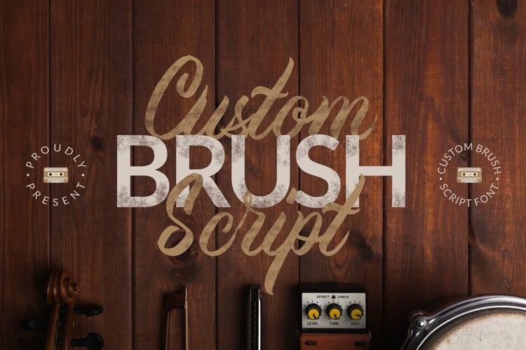 Web Font Custom Brush Script example image 1