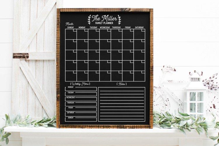 Customizable Family Calendar SVG example